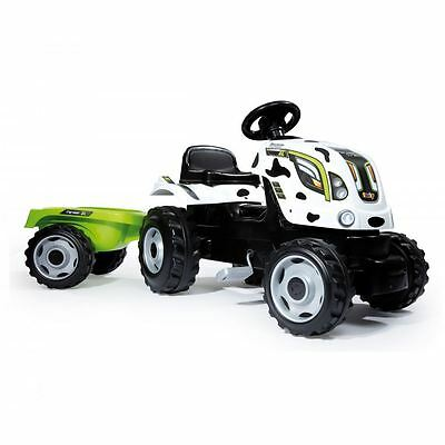Smoby Claas Kids Childrens Ride On Pedal Toy Tractor and Trailer New