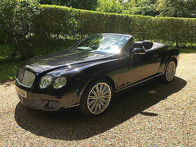 2009 Bentley Continental Gtc Speed Black/black With Only 39K Miles Fbsh