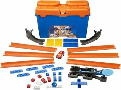 HOT WHEELS CAR Track Builder Stunt Box OVER 35 Pieces, Launcher, Tracks, Curves