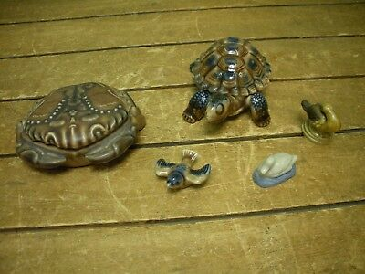 Wade + Others Turtle Crab Porcelain Statue Ornaments Whimsies Job Lot