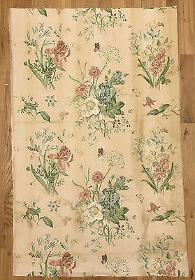 Beautiful Rare 1930s French Botanical Cotton Floral Print (9993)