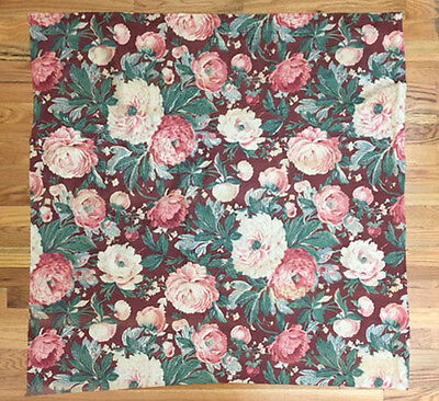 Vintage Beautiful 1930's French Cotton Floral Fabric ( 2021 )
