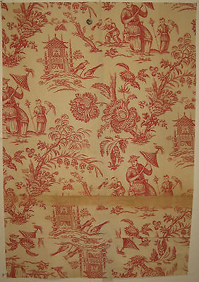 Beautiful 20th C. French Chinoise Cotton Print Fabric (9049)