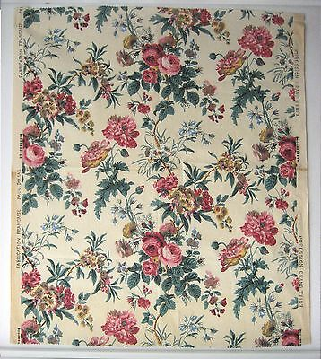 Vintage Beautiful 1930's French Floral Cotton Print Fabric (9436)