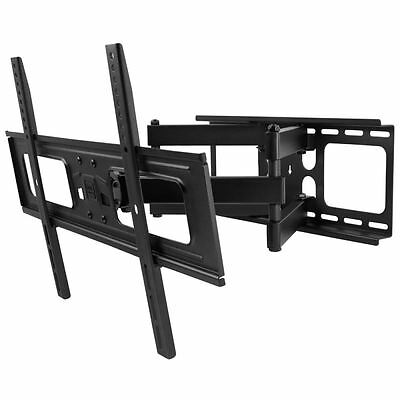 """One For All 32-84"""" Double Solid Tilt Swivel Universal TV Wall Bracket Mount New"""