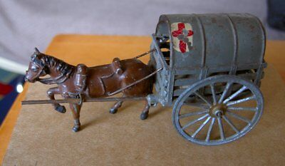 Vintage Metal Horse Drawn Military Ambulance (Made in France)