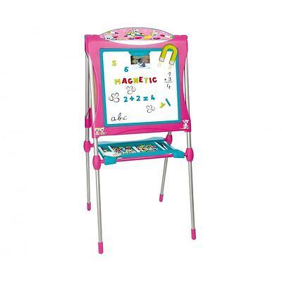 Smoby Children Kids Ultimate Metallic Double Sided Drawing Board - Pink New