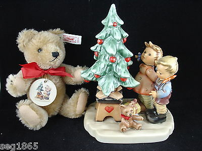 Hummel Goebel Wonder Of Christmas With Steiff Teddy Bear Hum 2015