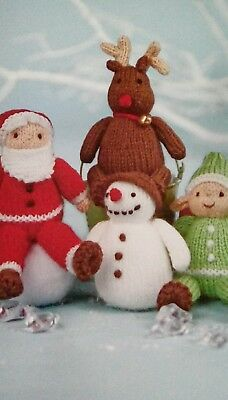 Christmas Festive Friends Toy Knitting Patterns