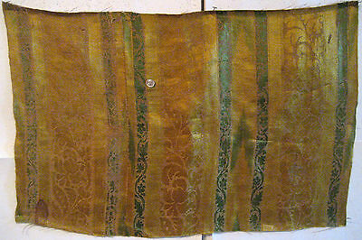 Beautiful & Rare Antique French Renaissance Silk Woven Amberline Fabric (9144)