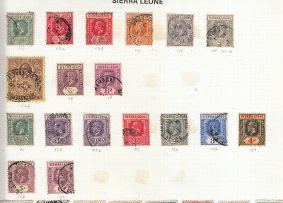 Sierra Leone George 5Th Values/sets Used Sg 112 To Sg 139