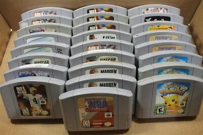 N64 Nintendo 64 Lot Of 25 Classic Games