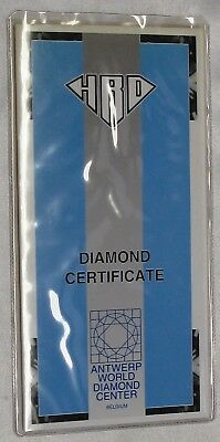 Certificate For A Single Diamond By Hrd, (Diamond Not Included)