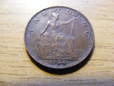 1934 George V Farthing Coin  - Nice Condition - Rare Year