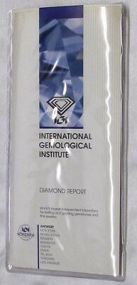Certificate For A Single Diamond By Igi, (Diamond Not Included)