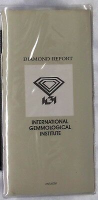 Certificate For A Single Diamond By Igi Intl.gemmological(Diamond Not Included)