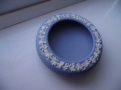 Wedgwood Blue Jasperware Shallow Trinket Bowl Excellent Condition See Pictures