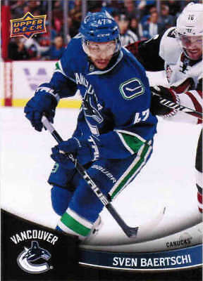 2017 17/18 UD SUBWAY COLLECTOR SERIES VANCOUVER CANUCKS CARDS (NNO) U-Pick List