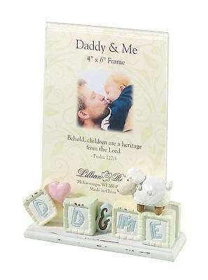 """Little Lamb Mum/Dad & Me 4 x 6"""" Photo Frame Baby Showers Christening Gifts"""