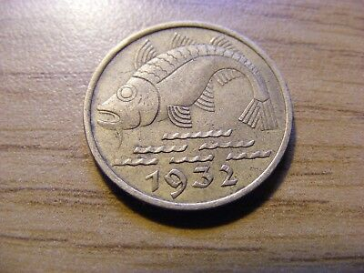 A 1932 Germany 10 Pfennig Coin  - Nice Condition -