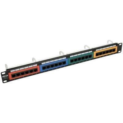 NEW Tripp Lite N253-024-RBGY 24-Port 1U Rack-Mount 110-Type Color-Coded Patch