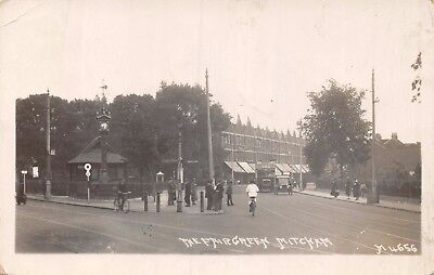 Surrey Mitcham The Fair Green Junction Motor Bus  & Clock Tower Photo Card