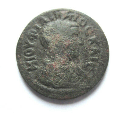 Ae-25 of Philippus II. from Laodiceia in Phrygia     Rv. Tyche standing left