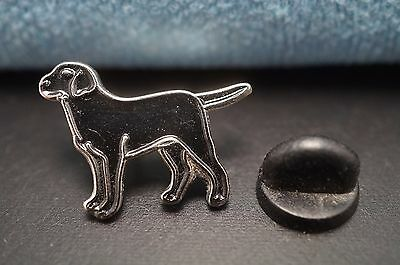 Black LABRADOR RETRIEVER Dog Metal Tie Tac Hat Pin