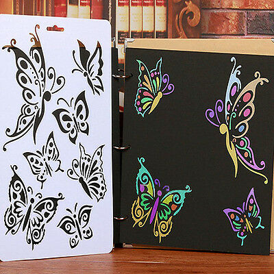 DIY Craft Butterfly Stencils Scrapbooking Stamps Album Painting Template Tool