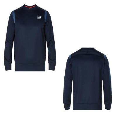 Canterbury Men's Thermoreg Bonded Fleece Crew Lightweight Breathable Rugby Top
