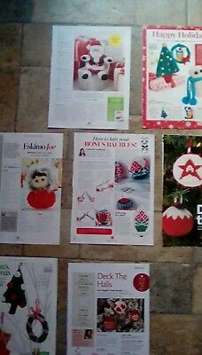 7 x Christmas decorations/ Toy Knitting Patterns