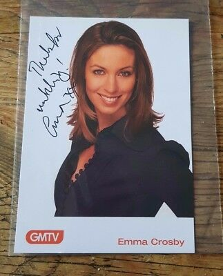 Emma  Crosby         Hand  Signed  Photo   Card  Gmtv