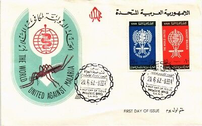 Dr Jim Stamps Malaria Eradication First Day Issue Uar Egypt Combination Cover