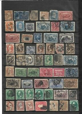 19th Century Collection Banknote Bureau Columbian 63 78 113 US Stamps Faults 2S4