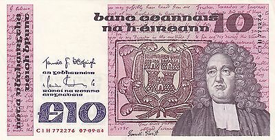 10 Pound Central Bank Of Ireland 1984 Xf+