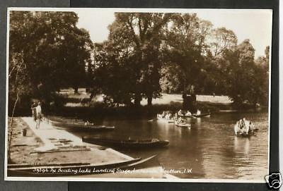 JFT Early Postcard, Landing Stage, Boating Lake, Lakeside, Wootton Isle of Wight