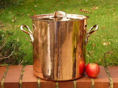 FRENCH 19th CENTURY 3 GALLON ANTIQUE COPPER KITCHEN STOCK POT