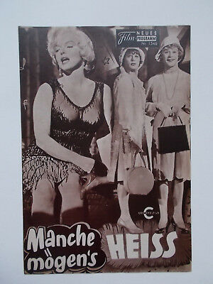 Neues Film-Programm Marilyn Monroe Some Like It Hot Manche Mögens Heiss Vintage