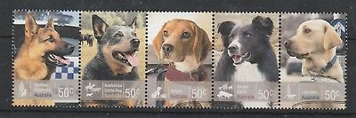 2008 Australian Working Dogs Used Strip Of Five.