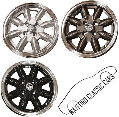 Minilight Alloy Road Wheels for MG Midget, Spitfire & GT6,Silver,Black,Gun Metal