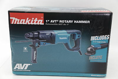 """SDS-Plus Concrete AVT Rotary Hammer Drill with 4-1/2"""" Angle Grinder with Case"""