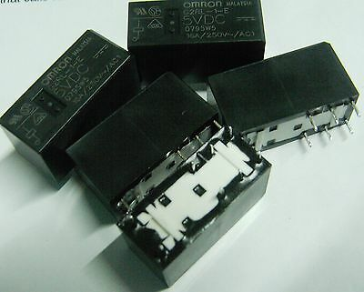 5 x Omron G2RL-1-E-DC5 5 volt coil high current 16A  low profile relay 5V  SPDT