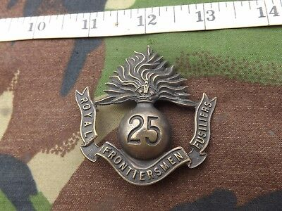 WW1, 25th Royal Fusiliers (Frontiersmen) ,Brass, Cap Badge