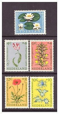 Netherlands 1960 Cultural & Social Relief Fund, Flowers set MM/MH SG893-897
