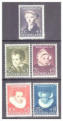 Netherlands 1956 Child Welfare Fund, 16th c. Dutch Paintings set MM/MH SG838-842