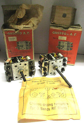 Geloso Milano 1991 2X Vintage Radio Chassis Drilling Templates 3 Bands Rf Blocks