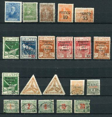 FIUME M&U Lot POSTAGE DUE CARNARO etc 21 Stamps