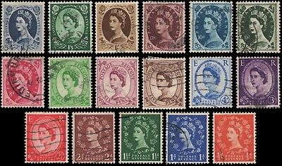 Great Britain #292-308 set Used