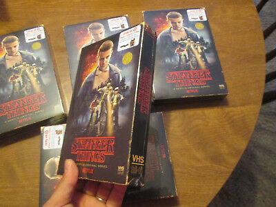 STRANGER THINGS SEASON 1 one BLU RAY DVD 4 disc TARGET VHS PACKING + POSTER