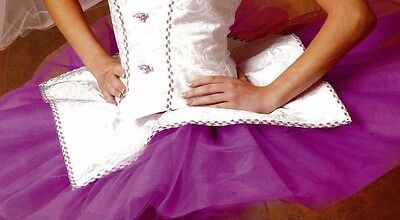 NWT Ballet Peplum White w/Orchid Adult Size use over any tutu in white